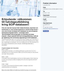 Specialanpassad utbildning kring SCIP_databasen